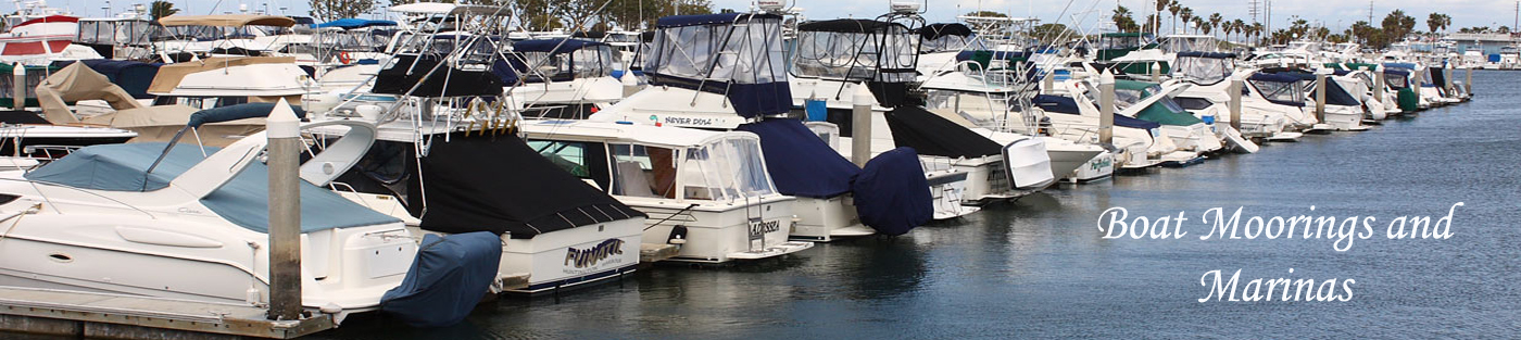 Boat and Yacht Moorings, Harbors and Marinas